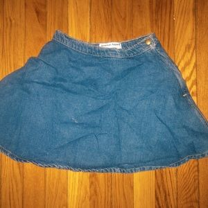 American apparel blue denim skirt